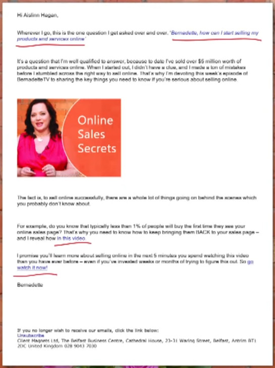 One Call To Action In Email Marketing