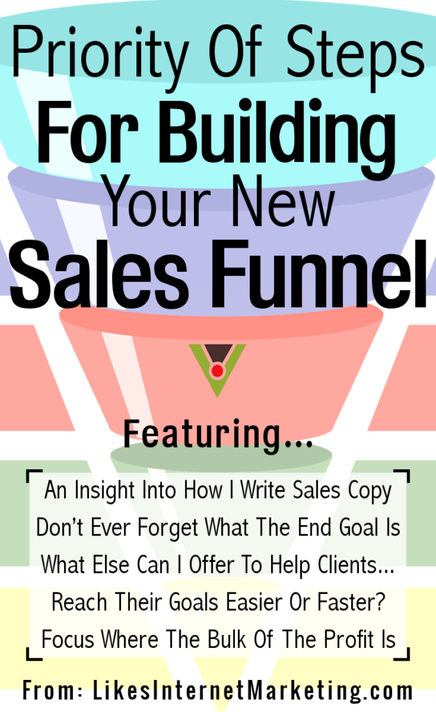 Priority Of Steps For Building Your New Sales Funnel