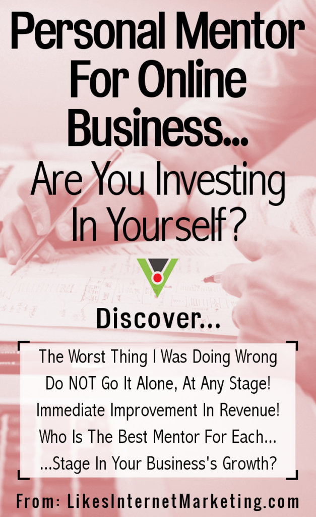 Personal Online Business Mentor: Are You Investing In Yourself?
