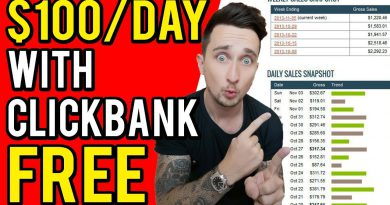 Clickbank For Beginners 2019: How To Make Money On ClickBank For FREE ($100 Per Day)