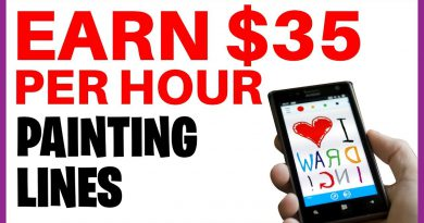 Earn $35 PER HOUR DRAWING LINES (Make Money Online EASY!)