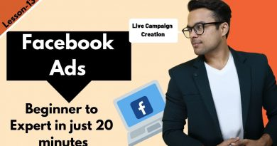 Lesson-12: Facebook Ads in 2019 : From Facebook Ads Beginner to EXPERT | Ankur Aggarwal