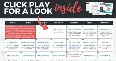 2020 Social Media Content Calendar from Angie Gensler - A Look Inside the Calendar