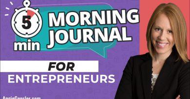 5-Minute Morning Journal for Entrepreneurs