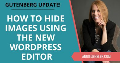 How to Hide Pinterest Images in a WordPress Blog Post Using the Gutenberg Editor