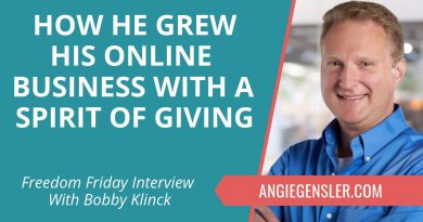 Freedom Friday Interview with Bobby Klinck ~ November 16, 2018