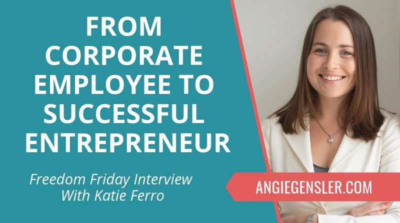Freedom Friday Interview with Katie Ferro ~ November 30, 2018