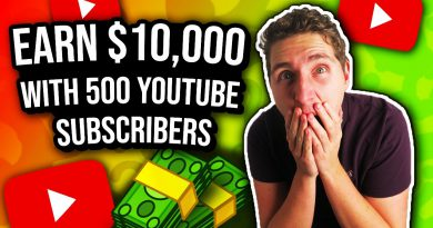 How I Made $10,000 With ONLY 500 YouTube Subscribers