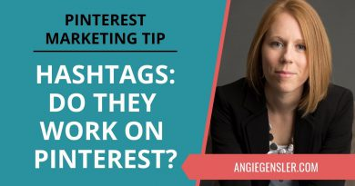 Pinterest Marketing Tip #25 - Do Hashtags Work on Pinterest and Where to Put Them?