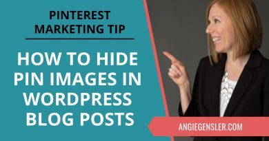 Pinterest Marketing Tip #28 - How to Hide Pinterest Pin Images in a WordPress Blog Post