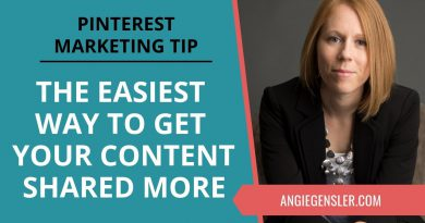 Pinterest Marketing Tip #37 - How to Get Your Content Shared More on Pinterest (Super Easy Tip!)