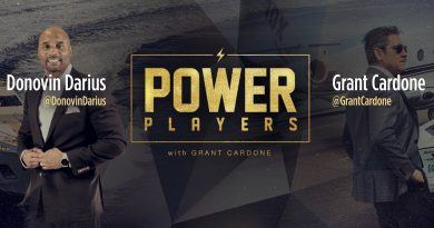 Power Players NFL Player Donovin Darius and Grant Cardone