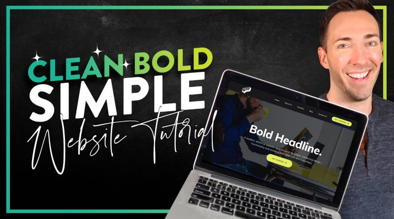 Create a Simple Website in Wordpress: Clean, Bold, Simple Style