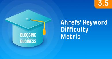 How to Use Ahrefs' Keyword Difficulty Metric [3.5]