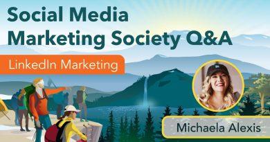 Social Media Marketing Society Q&A with Michaela Alexis
