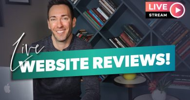 Wes Reviews Your Websites LIVE!