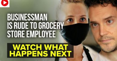Businessman Is Rude To Grocery Story Employee, Watch What Happens Next