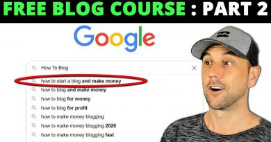 FREE How To Blog & Drive Massive Traffic Course – Part 2
