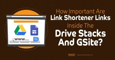 How Important Are Link Shortener Links Inside The Drive Stacks And GSite?