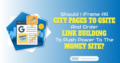 Should I iFrame All City Pages To Gsite And Order Link Building To Push Power To The Money Site?