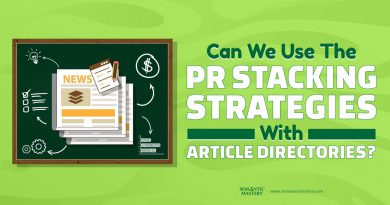 Can We Use The PR Stacking Strategies With Article Directories?