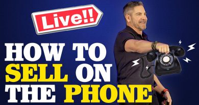 How To Sell On The Phone with Grant Cardone (Live Role Play)