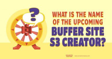 What Is The Name Of The Upcoming Buffer Site S3 Creator?