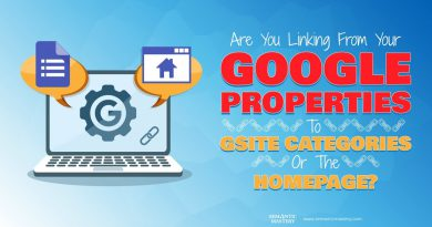 Are You Linking From Your Google Properties To Gsite Categories Or The Homepage