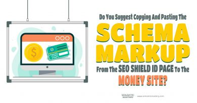 Do You Suggest Copying And Pasting The Schema Markup From The SEO Shield ID Page To The Money Site?