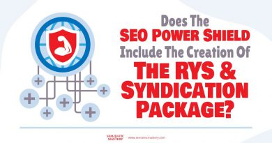 Does The SEO Power Shield Include The Creation Of The RYS And Syndication Package?