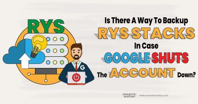 Is There A Way To Backup RYS Stacks In Case Google Shuts The Account Down?