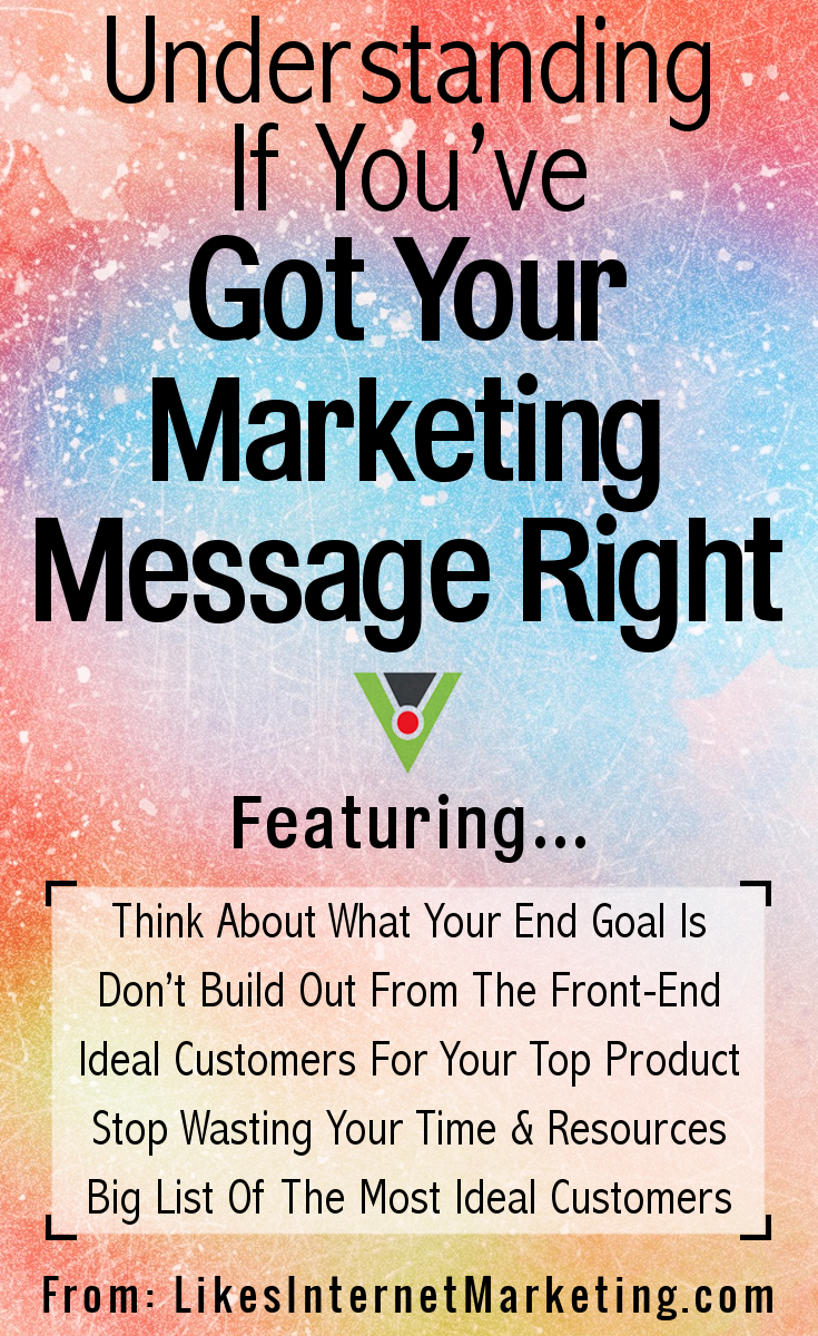 Understanding If You've Got Your Marketing Message Right