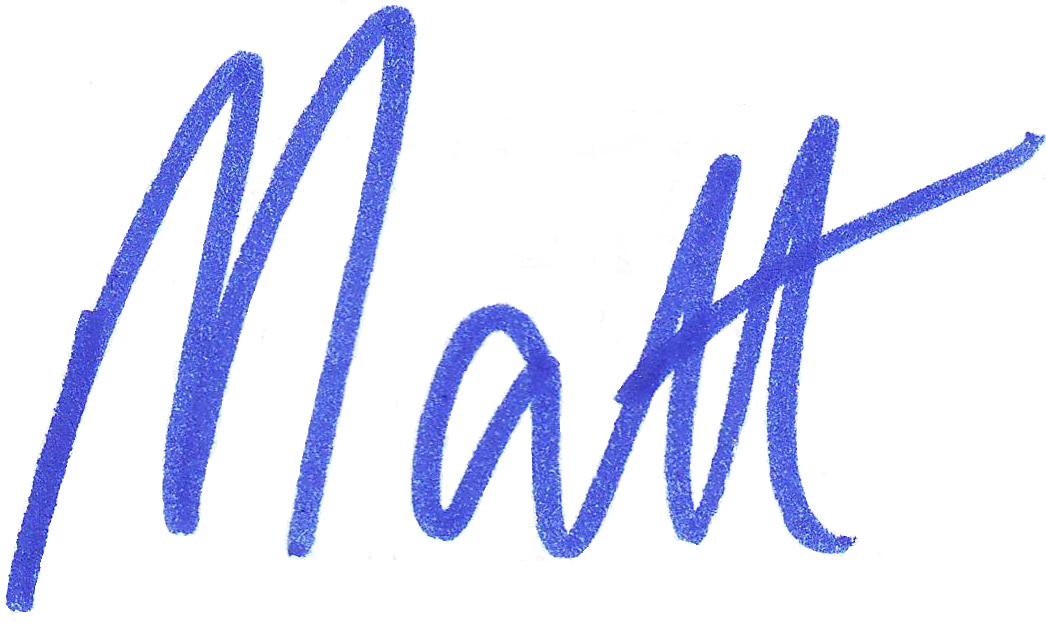 Signed By Matt