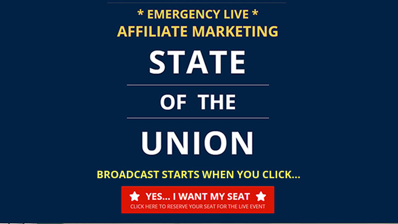 Emergency State Of The Union Address On Affiliate Marketing