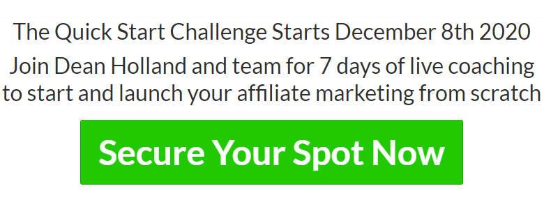 Take The Affiliate Marketing Beginners Quick Start Challenge